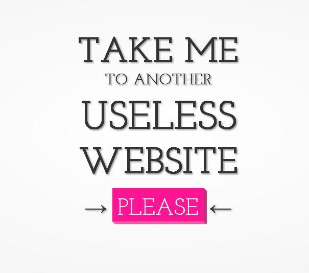 useless website