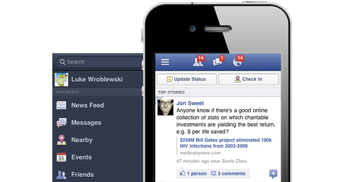 off canvas facebook menu example