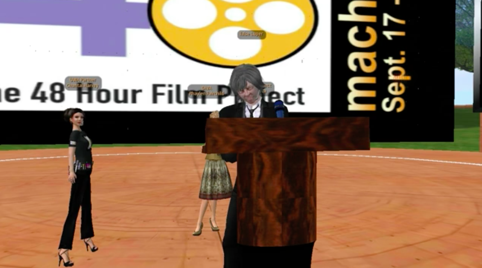 P. Greenaway's lecture in Second Life