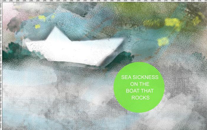sea sickness on the boat that rocks