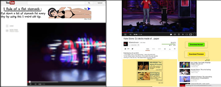 youtube layout wth annoying banners