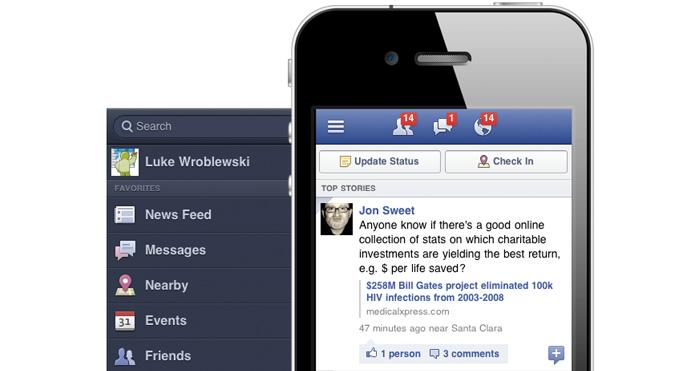 off canvas facebook menu example