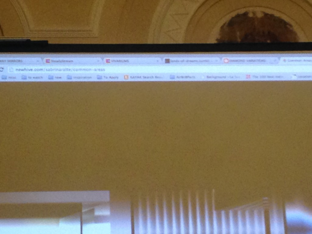 picture of projection bookmark bar