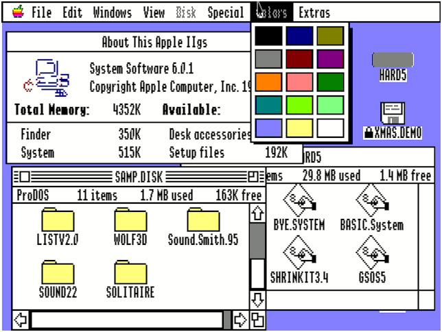 Apple GS/OS desktop (1986)